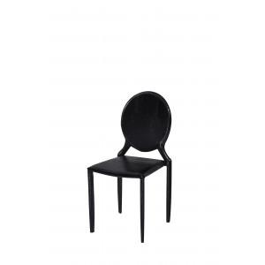Cadeira Amanda Medalhão Crocco Preta