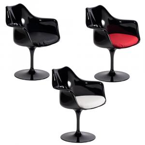 Cadeira Tulipa c/ Braço - Preto