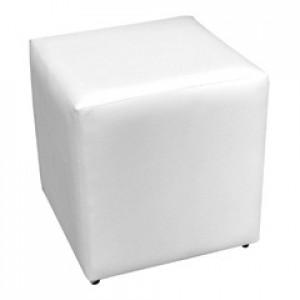 Puff Quadrado 40 x 40 - Couro Ecológico