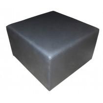 Puff Quadrado Preto 70x70 - MoBi Design